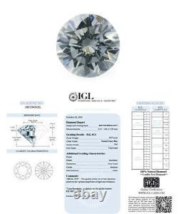 0.17 Carat Fancy Blue Loose Diamond Couleur Naturelle Forme Ronde Certifié