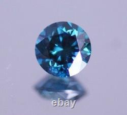 0.50 Carat Round Blue Natural Diamond Loose Sparkling Pour Bague De Fiançailles Asaar