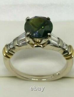 14k 2.75 Carats Combiné Diamant Naturel Non Traité Et Bague Sapphire Sz 6,5