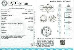 1.01 Carat Fancy VIVID Blue Vs1 Loose Natural Diamond Round Brilliant Certifié