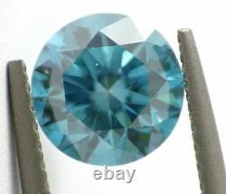 1.03 Carat Fancy VIVID Blue Vs1 Loose Natural Diamond Round Brilliant Certifié