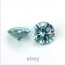 1ct 6,5mm Bleu Clair Orignal Diamant Rond Coupe Vs1