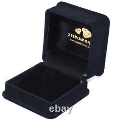 2 Carat Certified Blue Diamond Solitaire Ring Dans Le Style De La Lunette- Great Luster