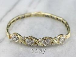 7.00 Carat Round Cut Diamond Tennis Bracelet 14k Yellow Gold Over 7.25