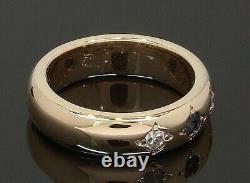 9 Carat Saphir En Or Jaune Et Serti De Diamants Taille De La Bague De Mariage E1/2 (80.21.105)