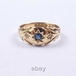Bague Gitane Saphir Diamant 18 Carats Or Jaune George V 1923