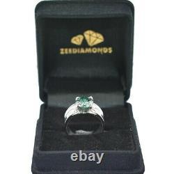 Blue Diamond Band Ring 3 Carat. La Terre A Été Minée. Certifié. Grand Luster
