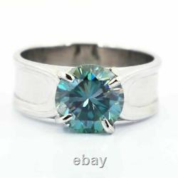 Blue Diamond Ring 3.00 Carat Certified Brilliant Cut Shine & Luster