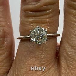 Blue Nile Gia Diamond Fiançailles Bague 14-karat Or Blanc Vs2, J, Round 1.06ct