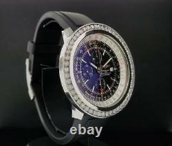 Breitling Navitimer World Stainless Steel 5.50 Carat Diamond Bezel Réf. A24322