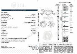 Cert 0.73 Carat Vert Bleu Si1 Ronde Brillant Amélioré Diamant Naturel 5,63mm