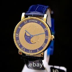 Corum Lunar Pegasus Limited Edition 499 Pièces 18 Carats D'or 1 9/16en Nouvelle Boîte &