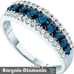 Diamant Naturel Blanc Bleu. Bague En Or Blanc De 50 Carats 10k