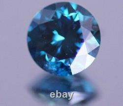Fancy Blue Natural Diamond Loose Round 0.25 Carat Bague De Fiançailles Étincelante
