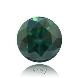 Fancy Vivian Bleu Verdâtre Couleur Ronde Orignal Diamant 6,58 Tcw Carat I1