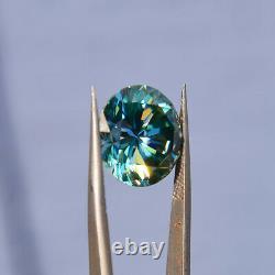 Huge 16,6mm, 15.70 Carat Magnifique Bleu Véritable Moissanite USA Vendeur/stock