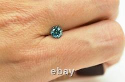 Loose Blue Diamond Fancy Color Rond Forme Real 0.81 Carat Natural Enhanced Si1