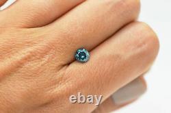 Loose Blue Diamond Fancy Color Round Cut Real Certifié 0.84 Carat Enhanced I1