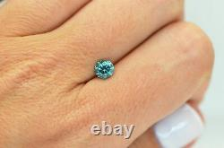 Loose Blue Diamond Fancy Color Round Shaped 0.71 Carat Si2 Natural Enhanced