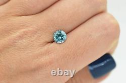 Loose Blue Diamond Fancy Round Shape 1.54 Carat Natural Enhanced Si2 Certifié