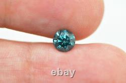 Loose Blue Diamond Real Round Shaped Fancy Color Natural Enhanced 0.65 Carat I1