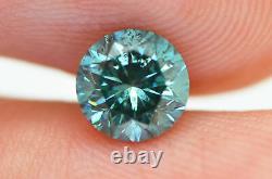 Loose Blue Diamond Round Shape Fancy Color Real Certifié 0.80 Carat Si2 Améliorer