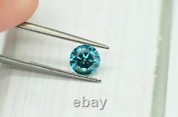 Loose Fancy Blue Diamond Rond En Forme Naturelle Amélioré 1.08 Carat Si1 Certifié