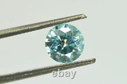 Loose Forme Ronde Diamond Fancy Blue Couleur 1.01 Carat Si2 Certifié Amélioré