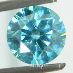 Loose Ronde En Forme De Diamant Fantaisie Bleu Couleur Si2 Naturel Amélioré Réel 1,13 Carat