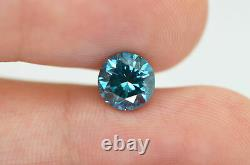Loose Round Diamond Fancy Blue Color Si1 Certifié Naturel Amélioré 1.72 Carat