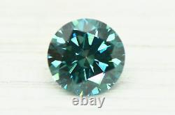 Loose Round Shape Diamond Fancy Blue Color Certifié Enhanced 1.17 Carat Vs1