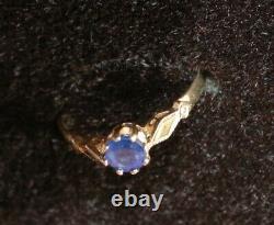 Magnifique 9ct Or Jaune Solitaire Sapphire Taille De La Bague K L Hallmarked 375 9 Carat