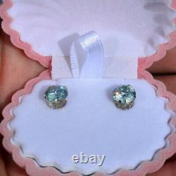 Magnifiques Boucles D'oreilles 3.34 Carat Dew Maui Estate Stud 100% Véritables Moissanites
