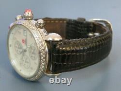 Michele Csx. 60 Carat Diamond Chrono Watch Avec Bande Cuir 71-4000/5000