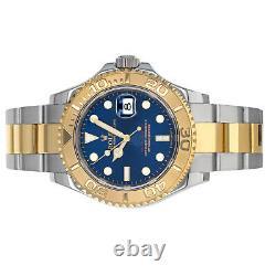 Rolex 16623 Yacht-master G Box Papier Cadran Bleu Acier 18 Karat Or Jaune Suisse