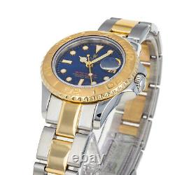 Rolex 169623 U Yacht-master Boîte & Papiers Cadran Bleu Acier 18 Karat Or Jaune