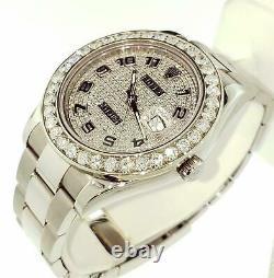 Rolex Men's Datejust 2 II 41mm Total 7.50 Carats Diamond Bezel Full Pave Dial