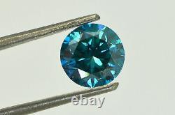 Rond En Forme De Diamant Solitaire Fantaisie Bleu Couleur Si1 Réel Naturel Amélioré 1,72 Carat