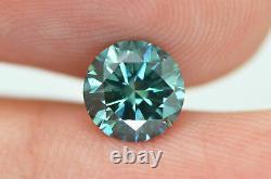 Round Shape Diamond Loose Fancy Blue Certifié Naturel Amélioré Vs1 1.17 Carat