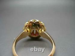 Taille 7.5 Ladies Revival Era Ruby Turquoise Ladies Ring Jaune 18 Karat. 750 Or