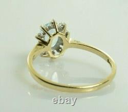 Topaz Et Bague Diamant En Or Jaune 10k. 99 Carats Taille 7