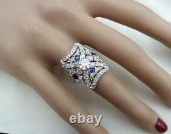 Vintage Edwardian Antique 1.0 Carat Diamond Engagement Art Déco Filigri Era Ring